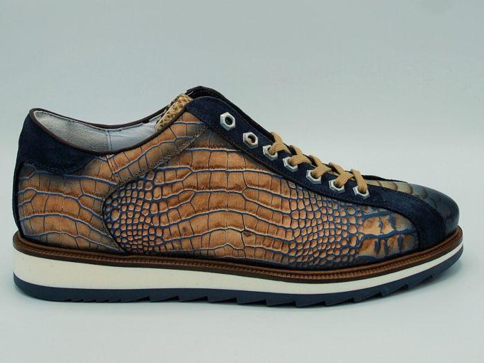 Giorgio Sneaker 6491807 Camel Leer Geprint
