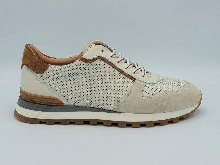 Giorgio Sneaker 8751701 wit leer met suede